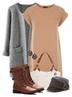 """Cozy neutrals"" by mommygerloff ❤ liked on Polyvore featuring The Sak, Grace and Dorothy Perkins"