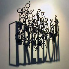 Impresionante arte con sombras...