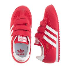 big sale 0c455 2ec19 J.Crew - Kids Adidas® Dragon sneakers in red and white Red Adidas