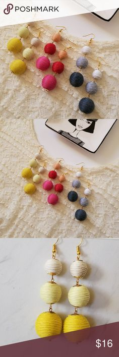 5 for $25 Bon Bon Statement Earrings Brand new thread bon bon dangle earrings  Everything in my store is 5 for $25. Mix and Match. Buy for yourself or as a gift for mom or friend.  Add 5 items to your bundle and offer $25. You can buy more than 5 items. Every item after 5th is $5 Feel free to ask any questions! Jewelry Earrings