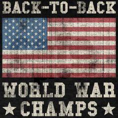 Back To Back World War Champs T-Shirt on CafePress.com