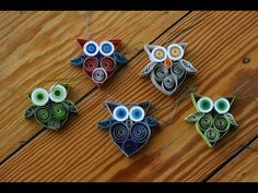 Quilling - Eule - YouTube