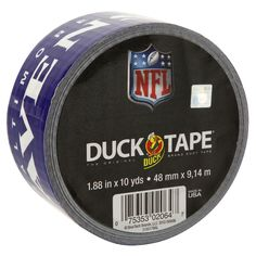 NFL Licensed Duck Tape® - Baltimore Ravens http://duckbrand.com/products/duck-tape/licensed/nfl-licensed-duck-tape/baltimore-ravens-188-in-x-10-yd?utm_campaign=nfl-duck-tape-general&utm_medium=social&utm_source=pinterest.com&utm_content=nfl-licensed-duck-tape