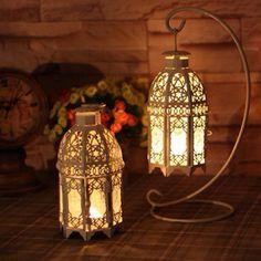 Lanterna decorativa com suporte