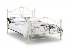 fcbc1d3e43cb paris-bed Painted Beds, Double Beds, White Double Bed Frame, White Metal