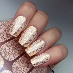 The sweet pink background combined with a whimsical metallic gold pattern creates a style that can't be matched.  Takes minutes to apply, lasts up to 2 weeks with peel off removal in seconds. No toxic chemicals, dry times or chipping. Up to 4 manicures for under $10!
