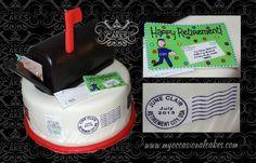 USPS retirement cake