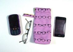double pocket eyeglass tote