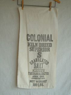 Vintage Grain Salt Feed Sack Muslin Sack by DivaInTheDell on Etsy, $15.00