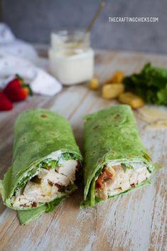 Chicken Ceaser Wraps, Chicken Ceasar Salad, Caesar Salad, Ceasar Chicken Wrap, Healthy Dishes, Healthy Recepies, Healthy Eating, Healthy Foods, Clean Eating