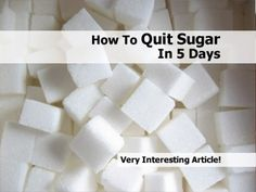 How To Quit Sugar In 5 Days