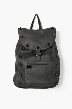 black spiked backpack.