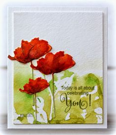 Poppy Pair from Penny Black