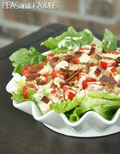 BLT Salad with Toasted Quinoa and Homemade Honey Mustard Dressing