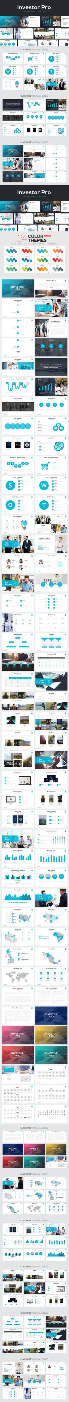 Investor Pro Powerpoint Template. Business Infographic