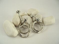 .Quadruplet Sterling Silver Ring, Sticks and Twigs $120.00