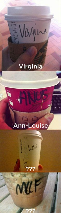 Starbucks can�t spell my name� don't know why I lol'd so hard at Bernie's friend