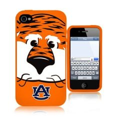How cute is this? Aubie iPhone case. I wish this was available for the 5!  Amazon.com: NCAA Auburn Tigers Mascot Soft Iphone Case,Fits Iphone 4 and 4s: Sports & Outdoors