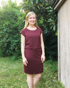 McCall's 7465 knit dress by @soisewedthis