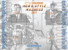 """If you're new around here, you may wonder why """"best dressed"""" list staples Daniel Craig and Ryan Reynolds are nowhere to be found in this year's bracket. It's because, unlike the NCAA tournament, SG Madness winners are retired after taking the top spot. Hence, Craig (winner: 2015) and Deadpool's Reynolds (winner: 2016) being left off the list."""