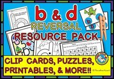 Do you want to help your children #discriminate between 'b' and 'd'? This resource is just for you! It contains different fun activities to help young learners distinguish between these two commonly #confused ]letters and their ]sounds.   This interactive pack contains an #anchor #chart, #clip #cards, #puzzles, #sorting #game and ready-to-go #printables which are ideal for all children, especially those who confuse #b and #d!