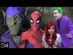Spider-Man VS The Joker or Green Goblin? Both wear purple and green. Mary Jane kidnapped by who? The Sean Ward Show is a fan parody series about superheroes,. Mary Jane Watson, Green Goblin, Man Vs, Mary Janes, Deadpool, Spiderman, Joker, Superhero, Youtube