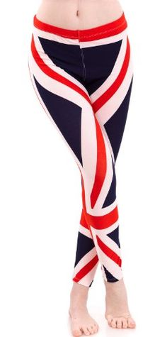 Ladies Great Britain England Flag Legging >>> Check out this great product.