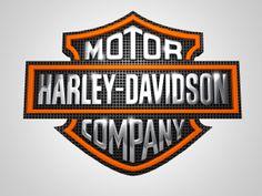 3d Logo, Logo Branding, Harley Davidson Signs, Motorcycle Paint Jobs, Hd Wallpaper Android, Harley Davison, Harley Bikes, Metal Texture, Stencils