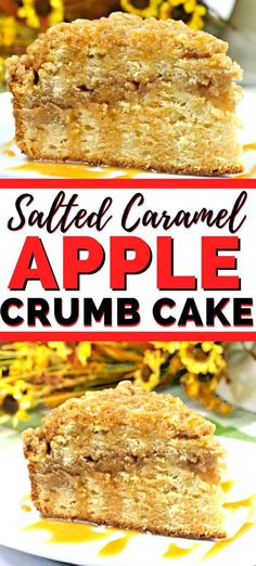 This salted caramel apple crumb cake is filled with apple chunks, cinnamon streusel, and then drizzled with a salted caramel sauce. Fudge Recipes, Apple Recipes, Cake Recipes, Dessert Recipes, Caramel Recipes, Muffin Recipes, Baking Recipes, Winter Desserts, Great Desserts