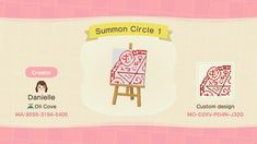 Summoning Circle 4 - Animal Crossing: New Horizons Custom Design Animal Crossing Town Tune, Animal Crossing Guide, Fake Geek Girl, Summoning Circle, Motif Acnl, Ac New Leaf, Horror Themes, Motifs Animal, Animal Games