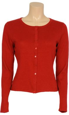 Cardi roundneck Cocoon icon-red