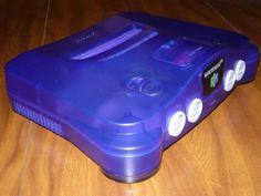 N64-Nintendo-64-Grape-Purple-System-w-2-Cont-2-Games-Namco-Museum