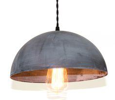 Zinc Dome Pendant Light by ParisEnvy on Etsy https://www.etsy.com/listing/130054417/zinc-dome-pendant-light