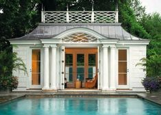 Palladian poolhouse