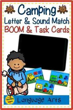 Are you looking for some camping themed upper & lowercase letter recognition and sound practice? Check these BOOM & Task cards out! The set includes matching upper and lowercase letters, along with match the beginning sounds of each letter. The resource includes both Boom and Task cards along with a list of games to be played with the student to practice letter recognition and sound identification skills. #camping #letters #sounds #letterrecogntion #theteachingscenebymaureen Upper And Lowercase Letters, Lower Case Letters, Phonics Activities, Math Resources, Cvce Words, Reading Centers, Student Motivation, Summer Activities For Kids, Letter Recognition