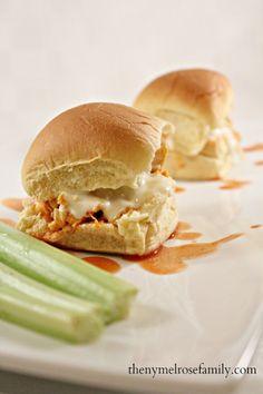 Super Bowl Appetizers Buffalo Chicken Sliders