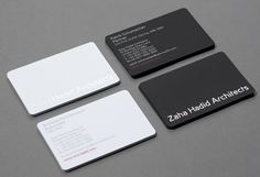 Business Card Zaha Hadid