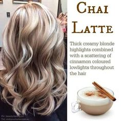 Chai latte hair