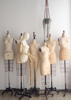 vintage dress forms at the adored vintage studio