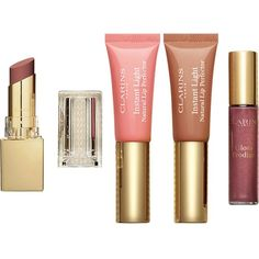 CLARINS Lip collection - Perfect Lips ($30) ❤ liked on Polyvore featuring beauty products