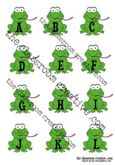 FREEBIE: Printable frogs with flies file folder game/literacy center to teach upper and lowercase #alphabet matching for #preschool and #kindergarten