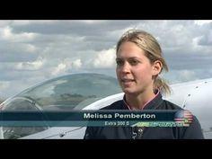 Melissa Pemberton aerobatic pilot at 24