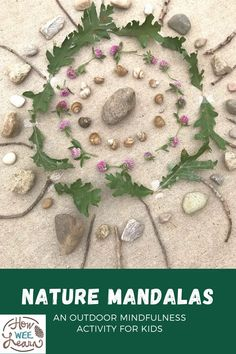 These nature mandalas are the most beautiful outdoor craft for kids. Incorporate some mindfulness into kids' activities. Autumn Crafts, Fall Crafts For Kids, New Crafts, Arts And Crafts Projects, Toddler Crafts, Projects For Kids, Art For Kids, Nature Crafts, Kids Crafts