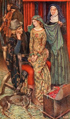 """ Eleanor Fortescue-Brickdale ~ Idylls of the King by Alfred Lord Tennyson ~ 1913 ~ via Illustration for Enid To make her beauty vary day by day, in crimsons and in purples and in gems. """