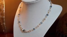 Denim and Diamonds Swarovski Crystal Necklace by AthenaSkyJewels