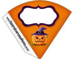 Cone Guloseimas Halloween Abóbora.