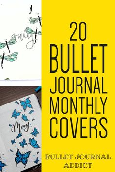 Monthly Cover Page Ideas For Bullet Journals - Bullet Journal Inspiration and Ideas For Spreads - Bullet Journal Monthly Cover Page Inspiration #bulletjournal #bujo #bujolove #bujoideas #bujomonthly #coverpages #bujocoverpages #bujopageideas #bujocollections #bulletjournalmonthly #bujomonth Bullet Journal Quotes, Journal Fonts, Bullet Journal Themes, Bullet Journal Inspiration, Bullet Journals, Journal Ideas, Journaling, Easy Doodles, Drawing Stars