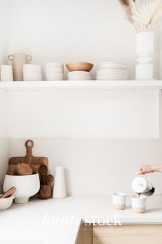 Neutral, minimal, Scandinavian interior, lifestyle & mompreneur styled stock photography featuring kitchen interior image and woman pouring coffee. Neutral Kitchen, Minimal Kitchen, Minimal Home, Scandinavian Interior, Scandinavian Design, Interior Photography, Photography Couples, Lifestyle Photography, Lifestyle Blog