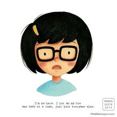 : Tina Belcher  2015  Bob's Burgers illustration...