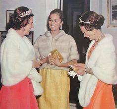 Grand Duchess Josephine-Charlotte and her sister-in-laws, Queen Fabiola and Queen Paola.